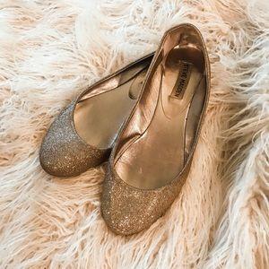 Steve Madden Gold P Heaven Ballerina Flats